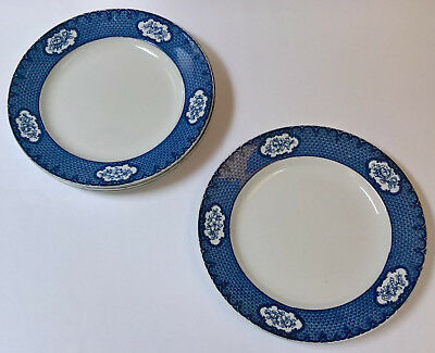 "4 Art Deco Losol Ware ""Cranford"" 9.5 inch Plates (Keeling & Co Ltd)"
