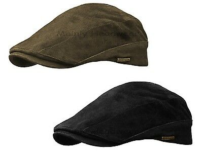 STETSON SUEDE LEATHER Mens GATSBY Cap Newsboy IVY hat Golf driving flat m l  xl 3b134bf29ad