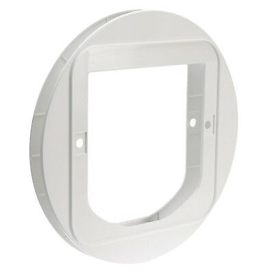 SureFlap Cat Flap Mounting Adaptor Suitable for Glass Doors Wall White New  *