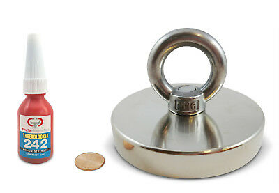 Brute Magnetics Round Neodymium Magnet with Countersunk Hole & Eyebolt, 1000 LBS