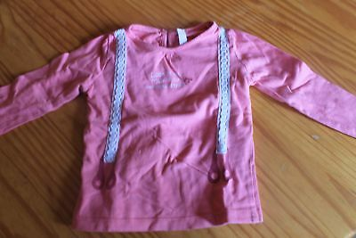 Sweat lognue manche rose taille 74