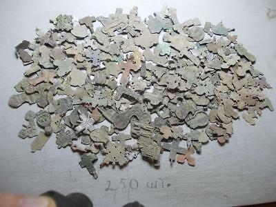 Metal detector finds.mix lot  fragments ancient crosses  250 pieces