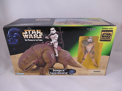 Star Wars Potf2 Dewback And Sandtrooper Mib