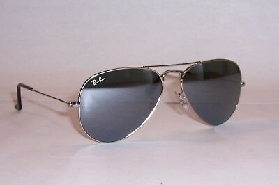 a82247ec65 NEW RAY BAN AVIATOR Sunglasses 3025 W3275 SILVER GRAY MIRROR 55mm Authentic