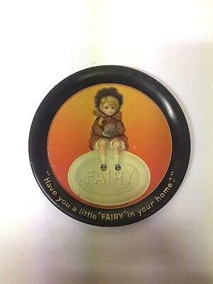 ANTIQUE VINTAGE N.K. Fairbank Co. Chicago ADVERTISING TIN TIP TRAY FAIRY SOAP