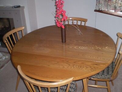 Vintage Ercol Dining Room Table & Chairs