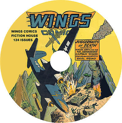 Golden Age Wings Comics on 1 DVD-R (124 issues with comic book reading software)