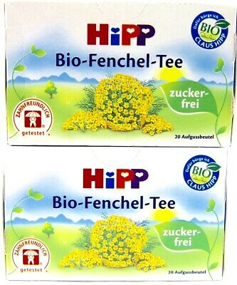 HiPP Fennel Tea -ORGANIC Tea  -Made in Germany- 2 BOXES -40 tea bags