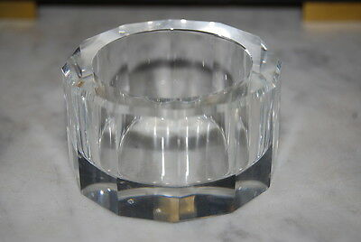 Wonderful Vintage Moser Art Deco Style Modernist Clear Crystal Small Candy Dish