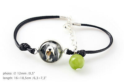 Bearded Collie. Bracelet for people who love dogs. Photojewelry. Handmade. CA
