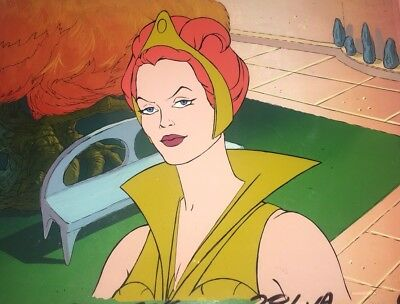 """He-Man Masters of the Universe Production Animation Cel Teela """"lesson"""" End"""