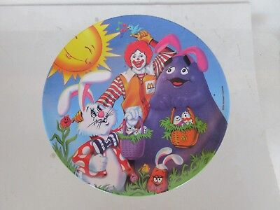 McDONALD'S EASTER PLATE - 1996 - GRIMACE AND RONALD McDONALD - UNUSED
