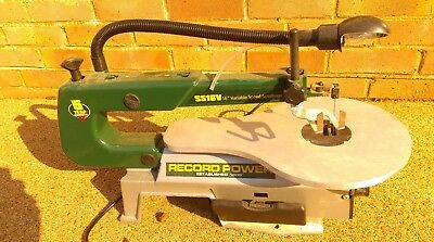 RECORD VARIABLE SPEED SCROLL SAW HARDLY USED (*1 hour)  WITH BLADES 240v