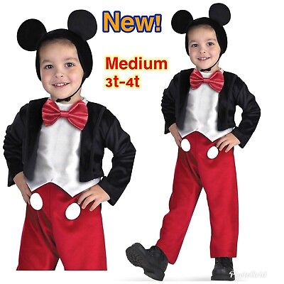 Mickey Mouse Deluxe Toddler Costume Size 3T-4T New!  sc 1 st  PicClick & THE WIGGLES DELUXE Captain Feathersword Costume Size 3-4 T Toddler ...