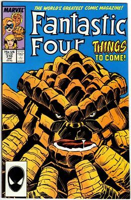 Fantastic Four 310 Nm- 9.2 Pollard Sinnott Crystal Ms Marvel Copper Age 1987 Bin