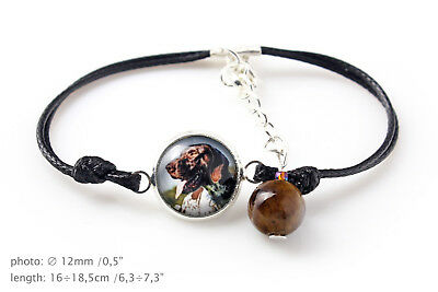 Pointer. Bracelet for people who love dogs. Photojewelry. Handmade. CA