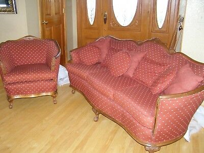 Antique Couch and Chair, manufactured around 1930s, great condition