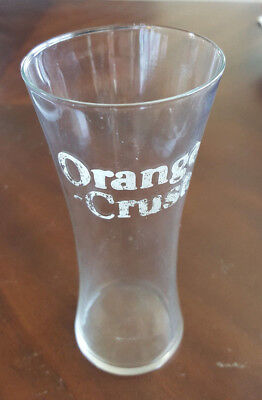 Vintage Etched ORANGE CRUSH Advertising Soda Fountain Glass Syrup Line