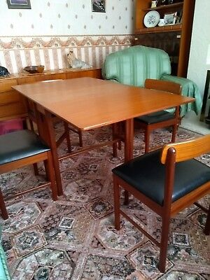 A H McIntosh Teak Dining Table and 4 Chairs stamped 1972 excellent  condition