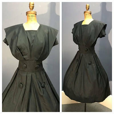 SUZY PERETTE 1950's Vintage 1950s Satin Taffeta Holiday Party Cocktail Dress S
