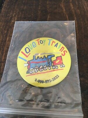 I Love Toy Trains Button Collectible Pin