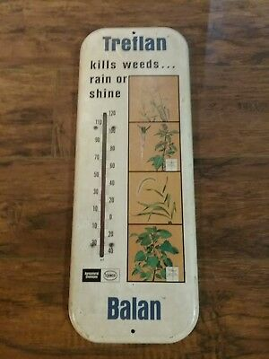 AGRI ADVERTISING  Vintage Treflan Balan Elanco Thermometer WORKING ANTIQUE nice