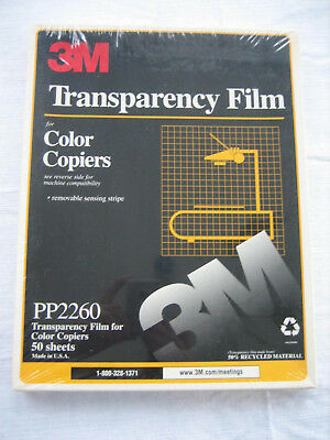 3M Transparency Film For Color Copiers 50 Sheets PP2260 Sealed Package