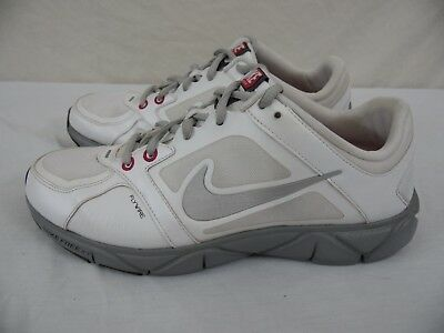 sports shoes 3cf5d f3f68 NIKE FREE XT - Quick Fit - FlyWire - Womens 8 - White & Silver Running Shoes