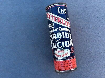 The BRYTERLITE Brand Carbide Of Calcium Tin HUMBER Oil Co Vintage Veteran Car