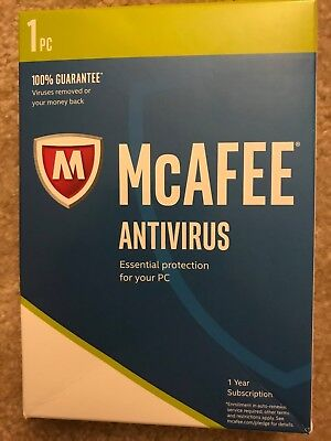 Intel McAfee Antivirus Plus 2018, 1 PC -1 Year License delivery in eBay Message
