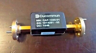Ducommun CAF-1230-01 Fixed Attenuator 30 DB  60 to 90 GHZ