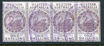 Western Australian Internal Revenue 1 shilling R47 strip of 4