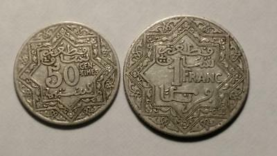 Morocco 1 Franc and 50 Centimes (1921-1924)  - Free U.S. Shipping