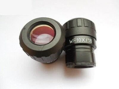WF10X/18 Wide Field 18mm Eyepiece f/ Stereo Microscope Diopter Adjustable Ocular
