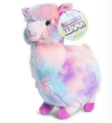 Huge Plush Llama pastel rainbow super soft Giant 12x9x6 inches USA toy easter