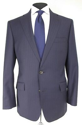 BROOKS BROTHERS 1818 REGENT Blue Pinstripe SUIT Jacket Pants 39R -34x31 ITALY