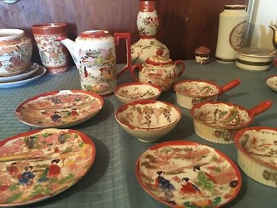 Several pieces Oriental Porcelin for sale Unique small bowls with handles