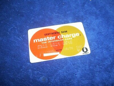 Vintage 1975 Master Charge Credit Card Continental Bank Chicago Town & Country