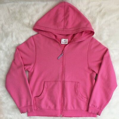 Hanna Andersson Girls Size 140 Pink Hoodie Sweatshirt Jacket Full Zip