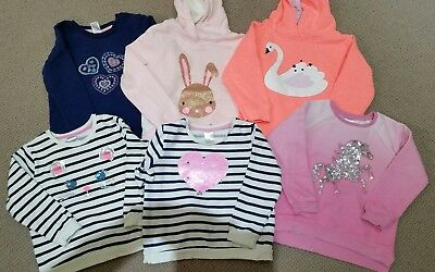 Girls Target and Cotton On sweat tops jumpers size 4