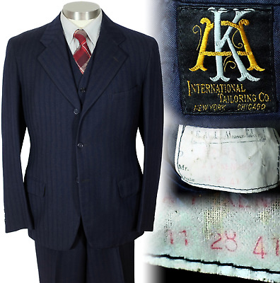 Vintage 1941 Men's Suit by the International Tailoring Company