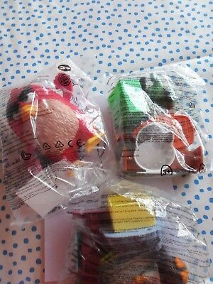3 Burger King bzw Mc Donalds Angry Birds Figuren