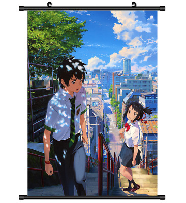 B4311 Kimi no Na wa Your Name anime manga Wallscroll Stoffposter 25x35cm