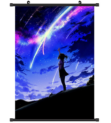 B4315 Kimi no Na wa Your Name anime manga Wallscroll Stoffposter 25x35cm