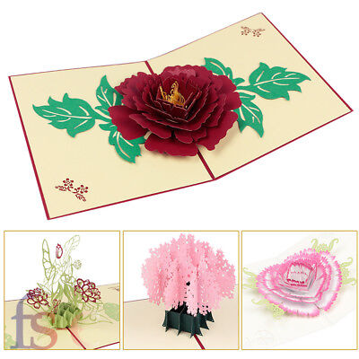 Mother's Day 3D Handmade Pop up Greeting Card Engagement Wedding Lover Gift UK