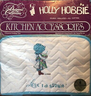 RARE Holly Hobbie Insulated Kitchen Appliance Cover - Love's a Stirrin - NEW