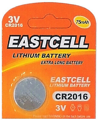 1 x CR2016 3V Lithium Knopfzelle 75 mAh ( 1 Blistercard a 1 Batterie ) EASTCELL