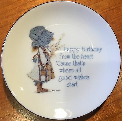 Lasting Treasures Holly Hobbie Small Dish with Birthday Message for Plate Wall