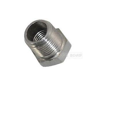 "1/2"" Male x 1/4"" Female Thread Reducer Bushing Pipe Fitting SS 304 NPT"