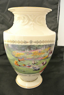 """Lenox Disney Winnie the Pooh """"A Grand Afternoon"""" Vase - #780 dated 2002- retired"""